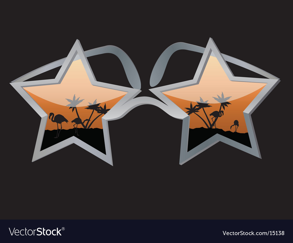 Star glasses vector | Price: 1 Credit (USD $1)