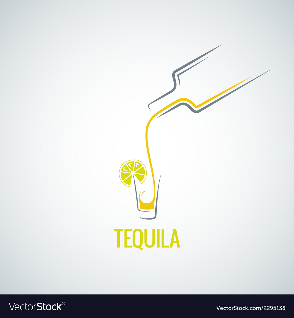 Tequila shot bottle glass menu background vector | Price: 1 Credit (USD $1)