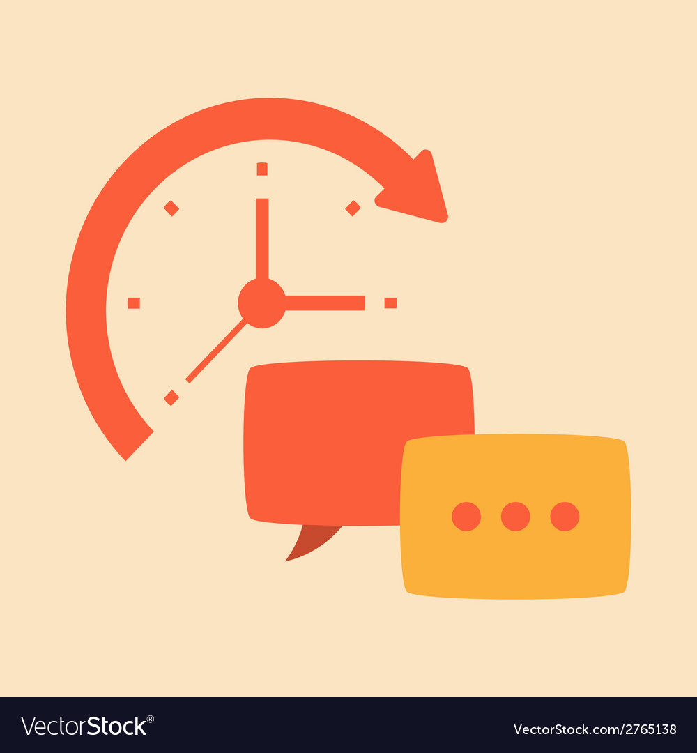 Time intercourse and friendly conversation vector | Price: 1 Credit (USD $1)