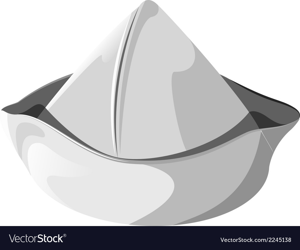 White sea hat isolated vector | Price: 1 Credit (USD $1)