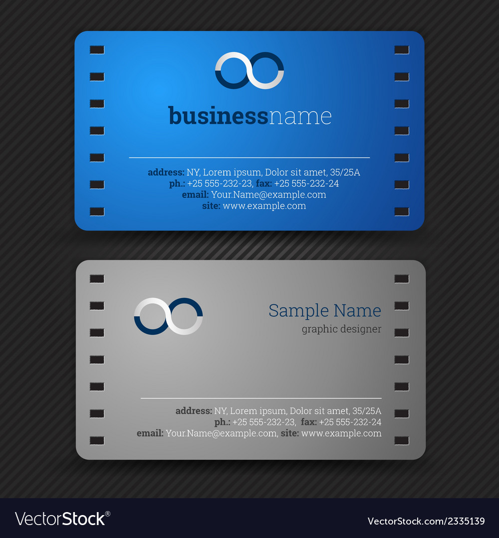 Abstract creative business cards set template vector | Price: 1 Credit (USD $1)
