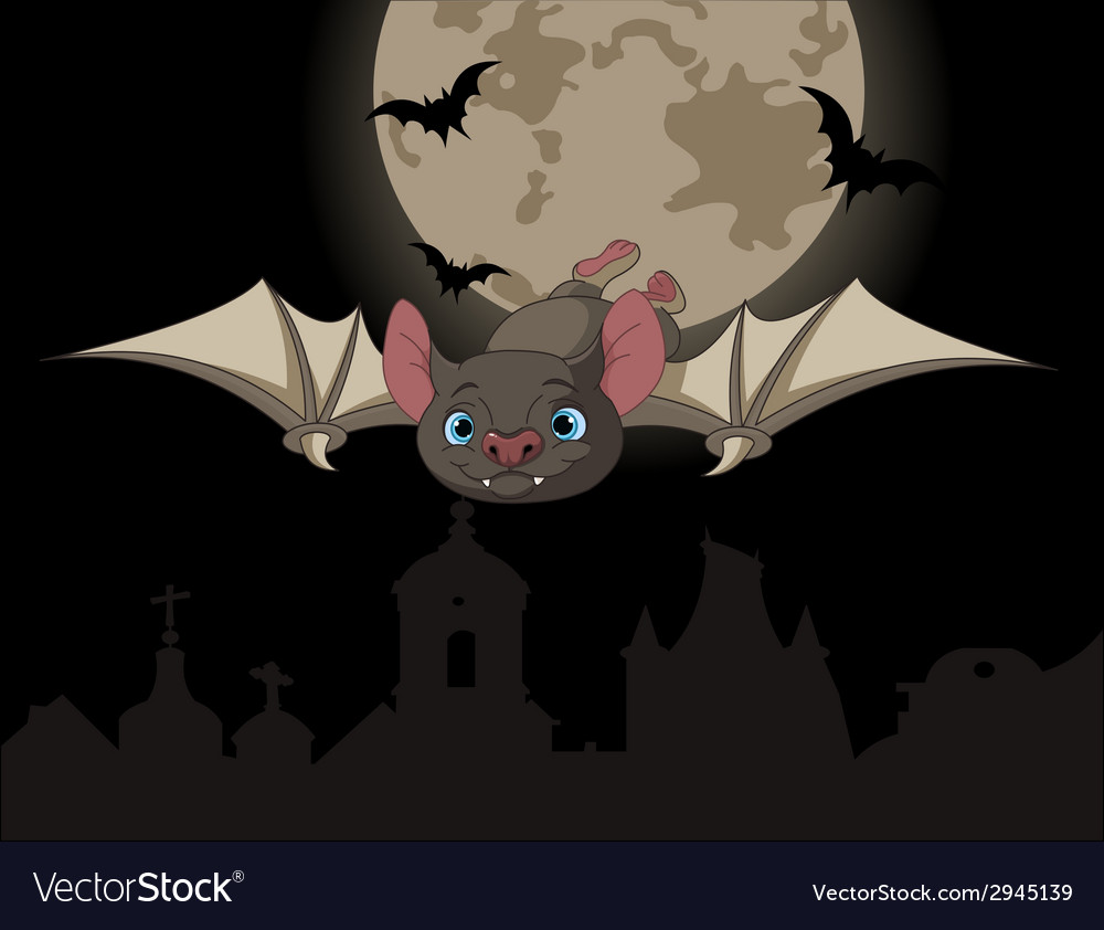 Bat in flight vector | Price: 1 Credit (USD $1)