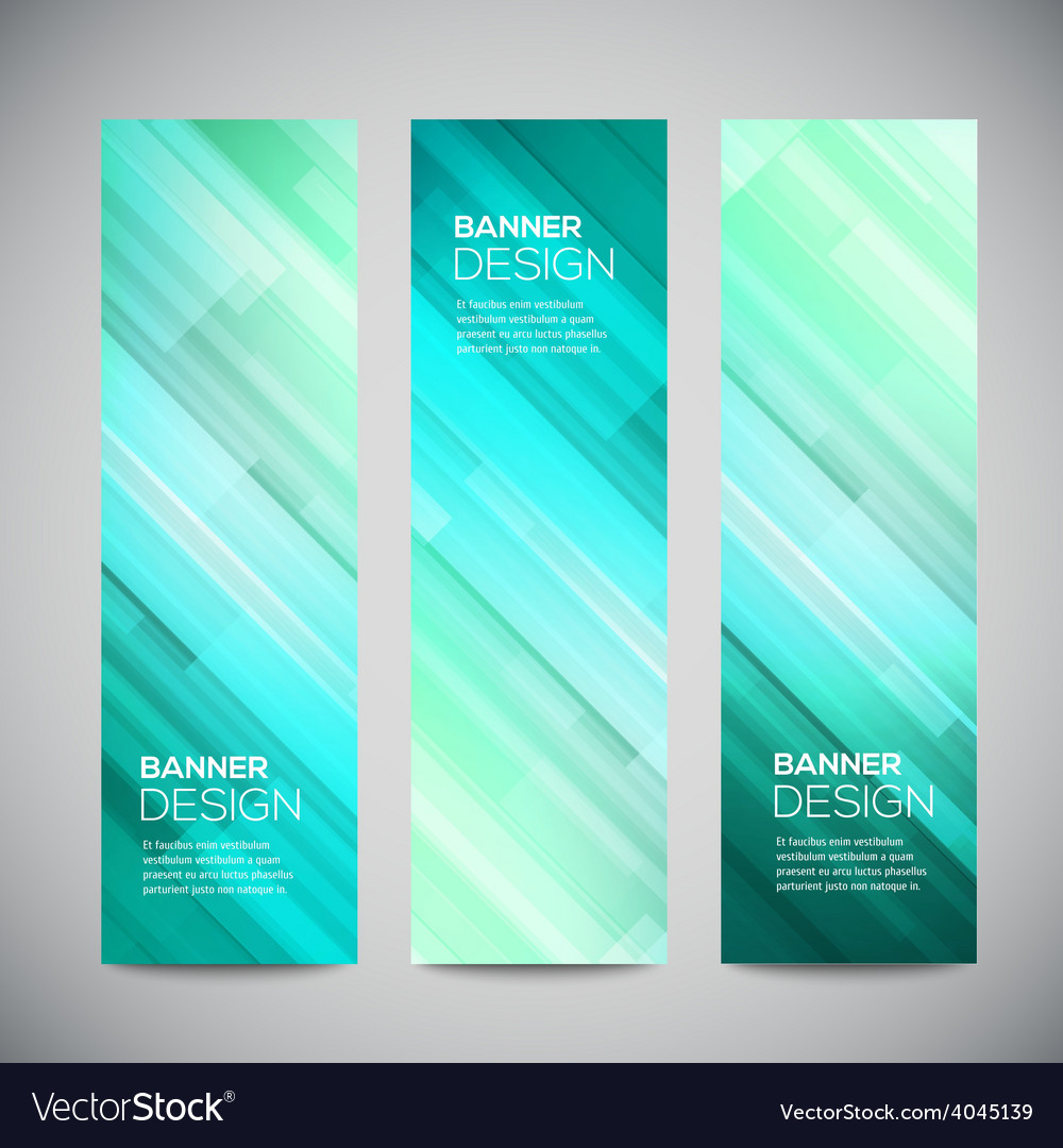 Blue low poly vertical banners set with vector | Price: 1 Credit (USD $1)