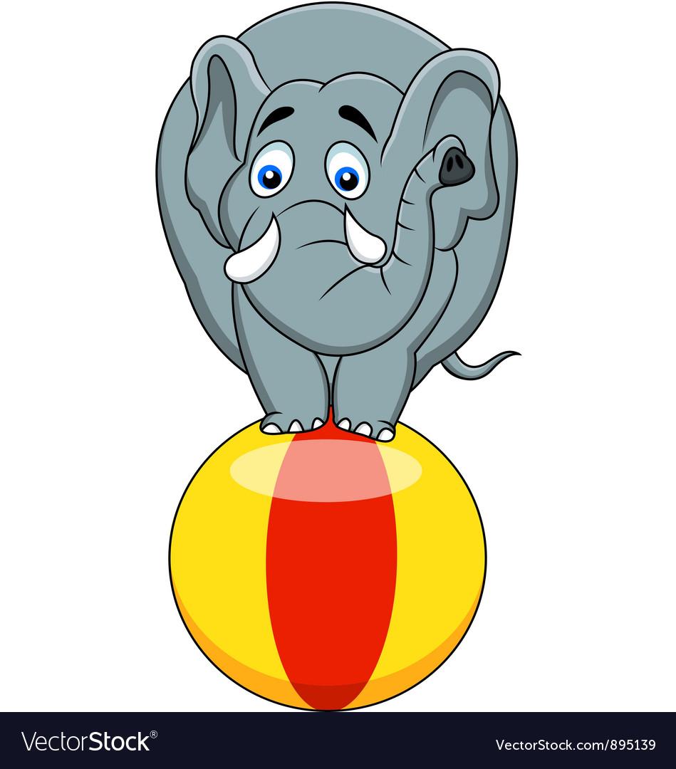 Elephant circus vector | Price: 3 Credit (USD $3)