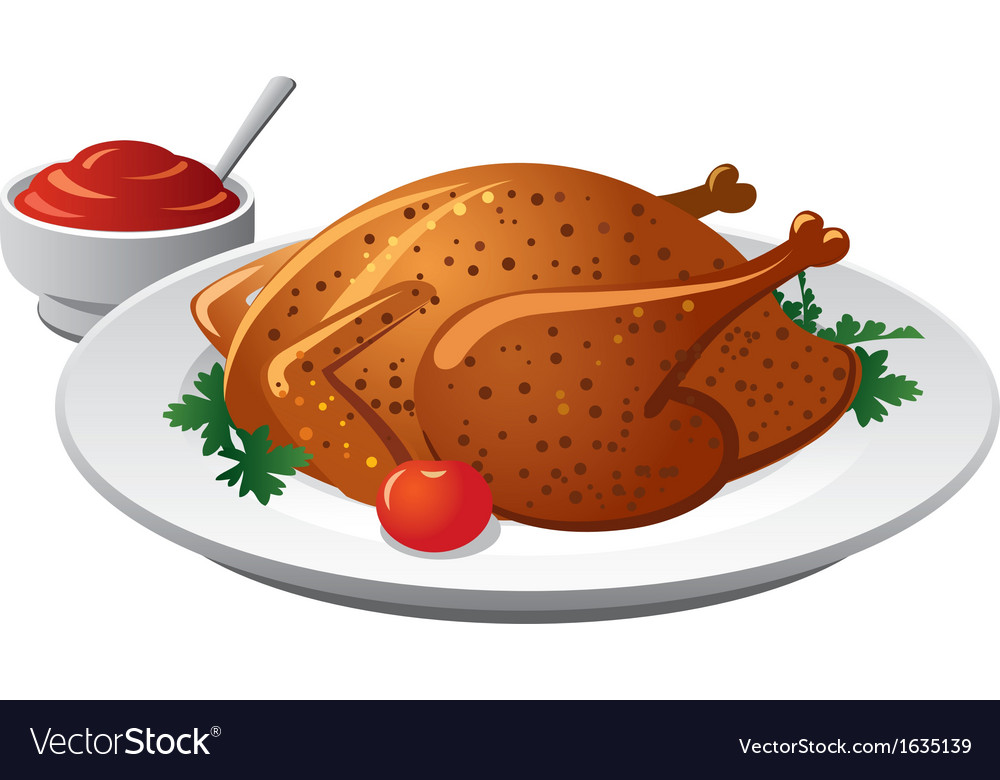 Grilled chicken vector | Price: 1 Credit (USD $1)