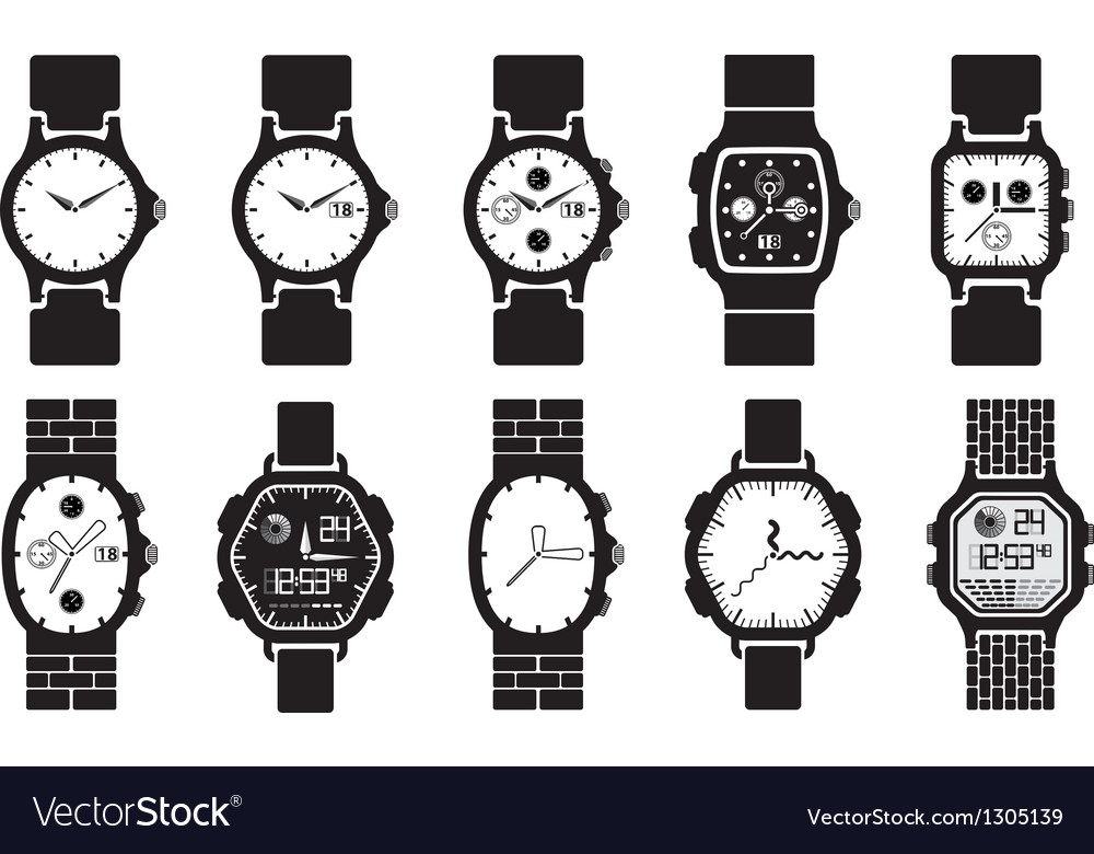 Icon set clocks vector