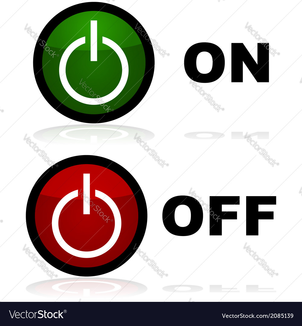 On and off buttons vector | Price: 1 Credit (USD $1)
