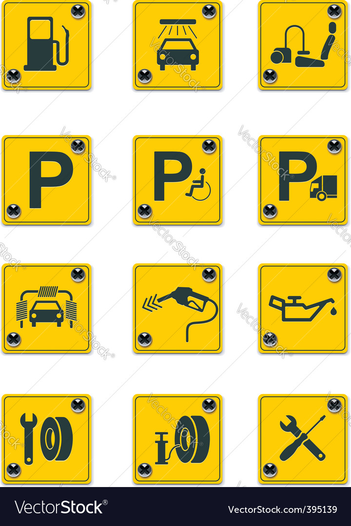 Roadside services signs pt 1 vector | Price: 1 Credit (USD $1)