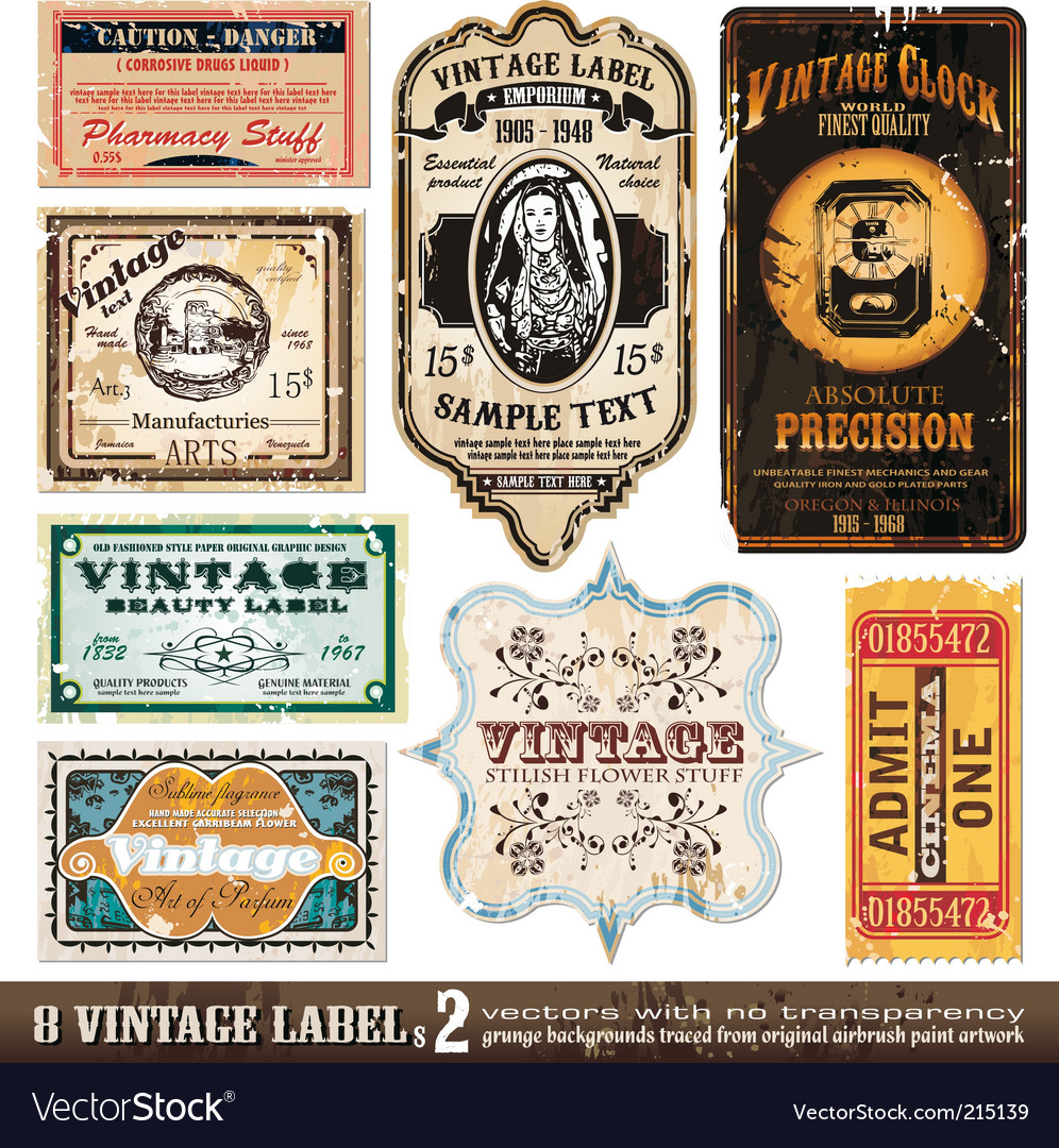 Vintage labels collection set vector | Price: 3 Credit (USD $3)