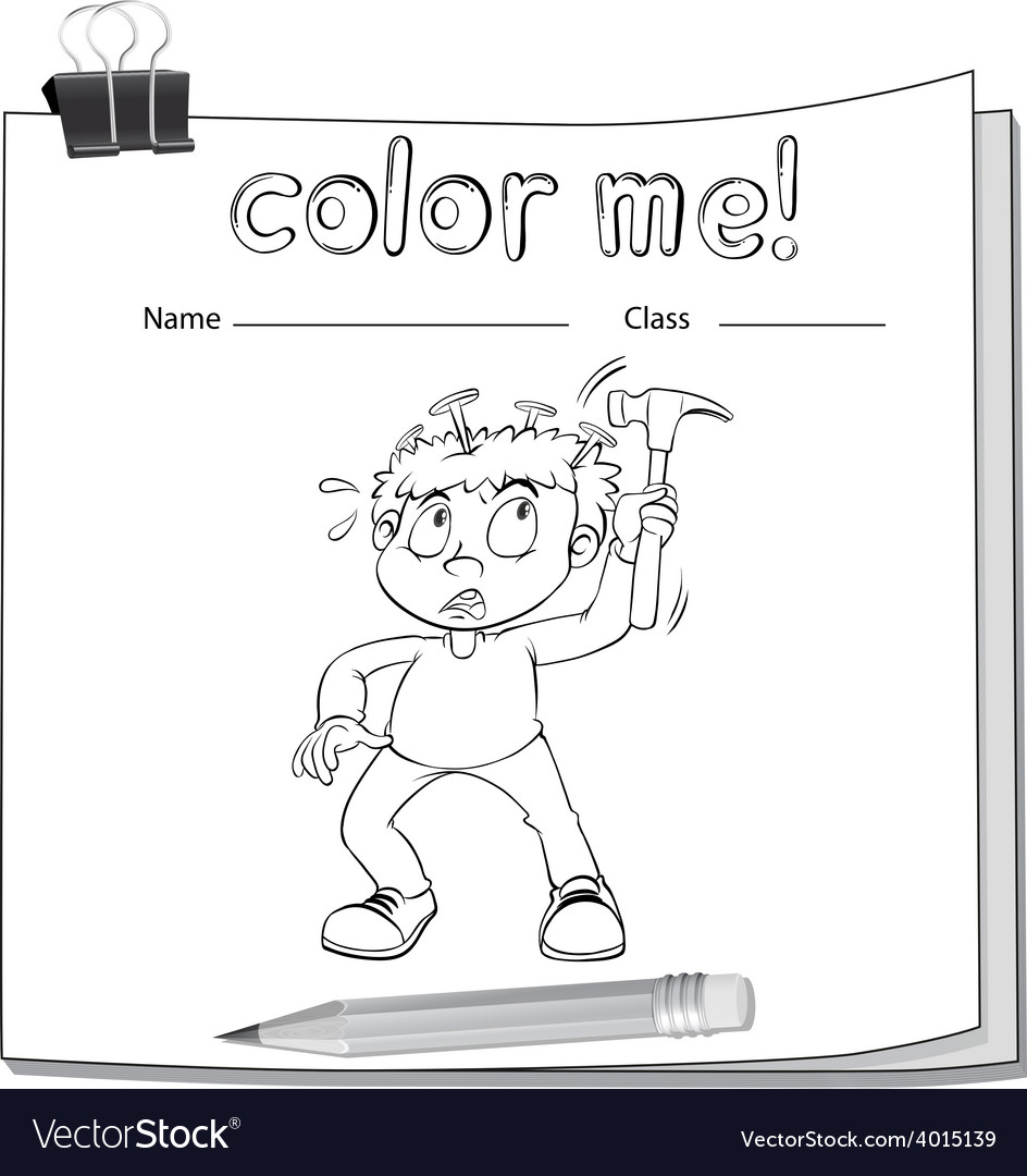 Worksheet with a boy vector   Price: 3 Credit (USD $3)