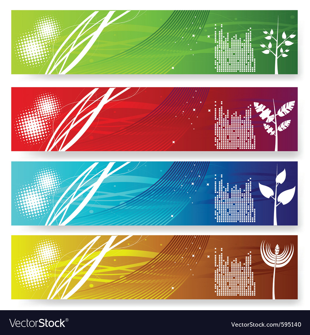 Abstract banner set vector | Price: 1 Credit (USD $1)