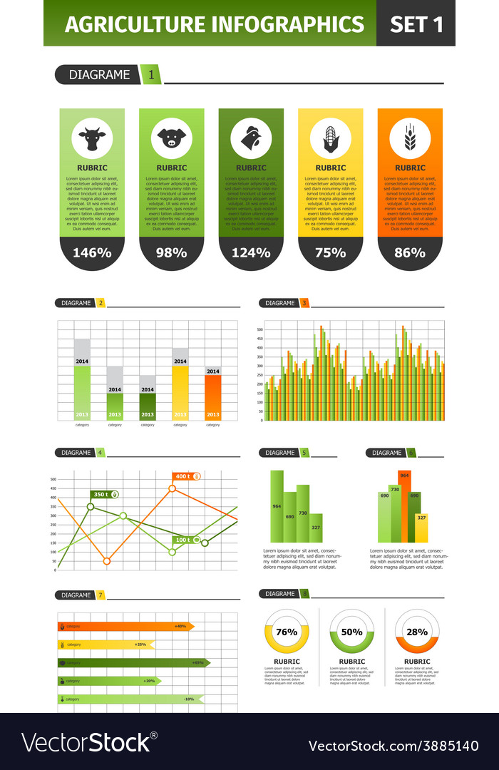 Agriculture infographic set vector | Price: 1 Credit (USD $1)