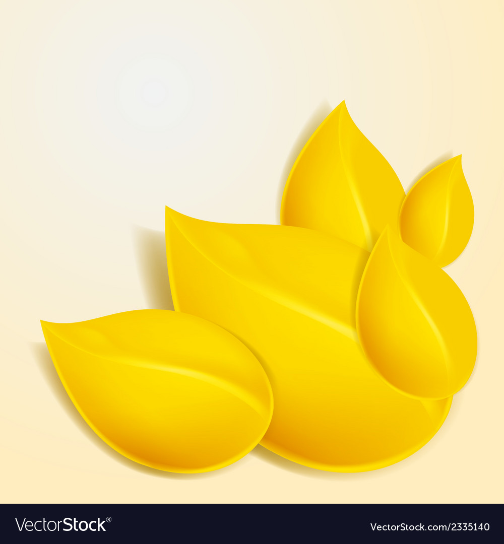 Autumn background with yellow foliage vector   Price: 1 Credit (USD $1)