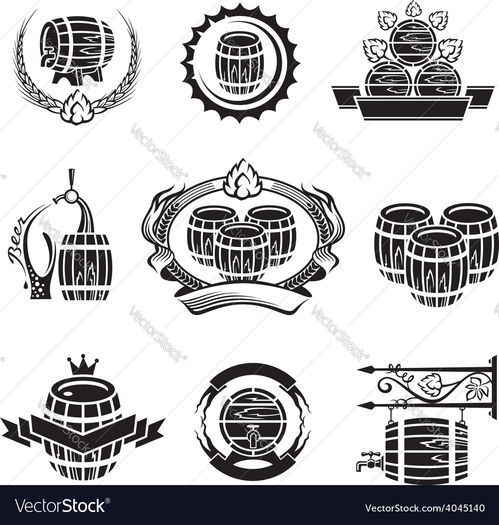 Barrel icons set vector   Price: 1 Credit (USD $1)