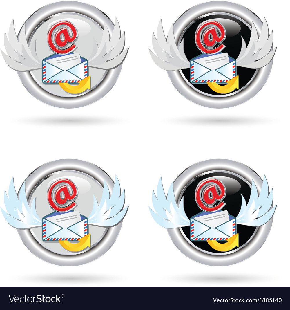 Black and white mail icon vector | Price: 1 Credit (USD $1)