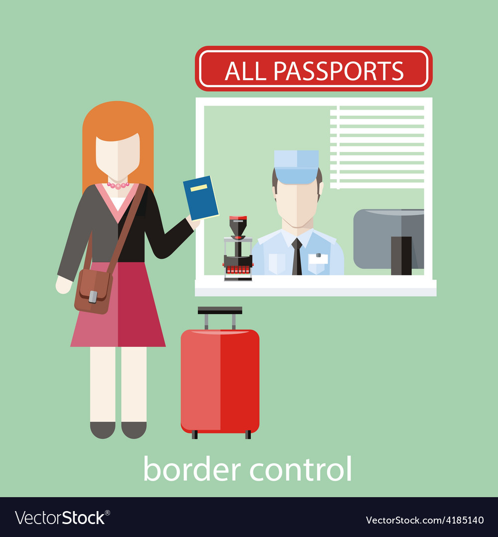 Border control concept vector | Price: 1 Credit (USD $1)