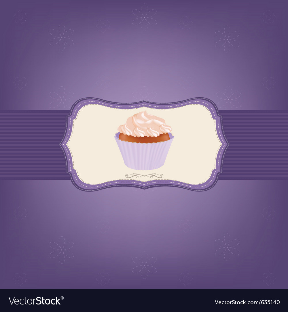 Cupcake with cream vector | Price: 1 Credit (USD $1)