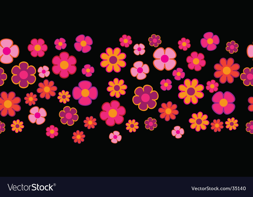 Flowers seamless background vector | Price: 1 Credit (USD $1)
