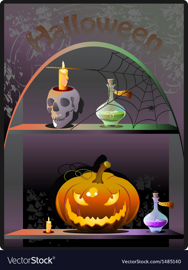 Halloween boutique background vector | Price: 3 Credit (USD $3)