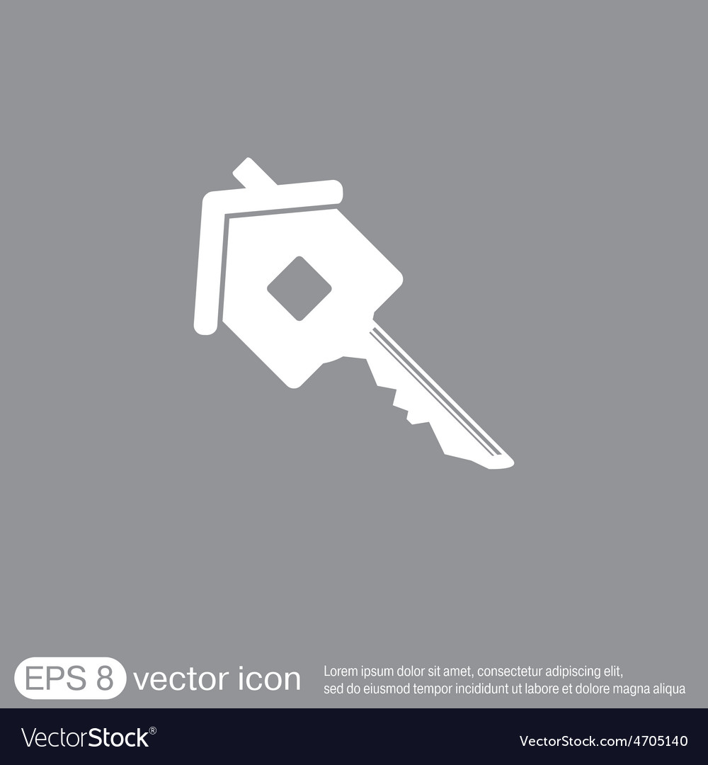 Key in the house real estate icon home sign vector | Price: 1 Credit (USD $1)