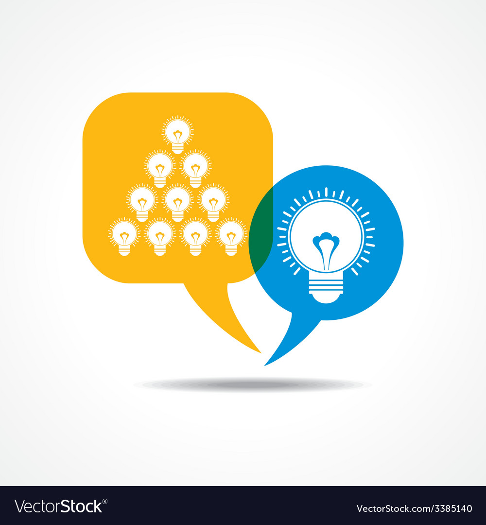 Light-bulbs in message bubble vector | Price: 1 Credit (USD $1)