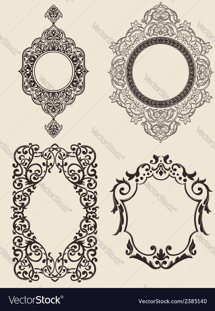 Ornaments set vector | Price: 1 Credit (USD $1)