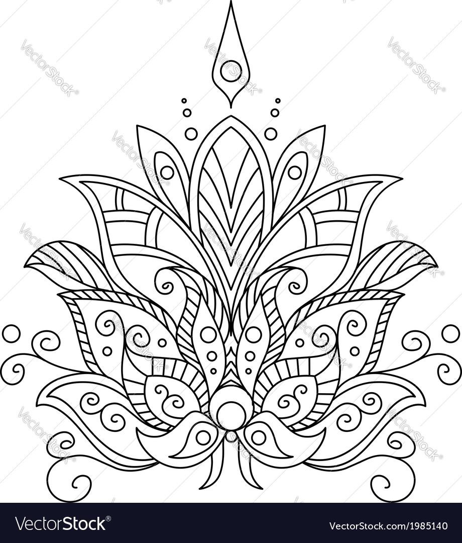 Ornate dainty vintage floral motif vector | Price: 1 Credit (USD $1)