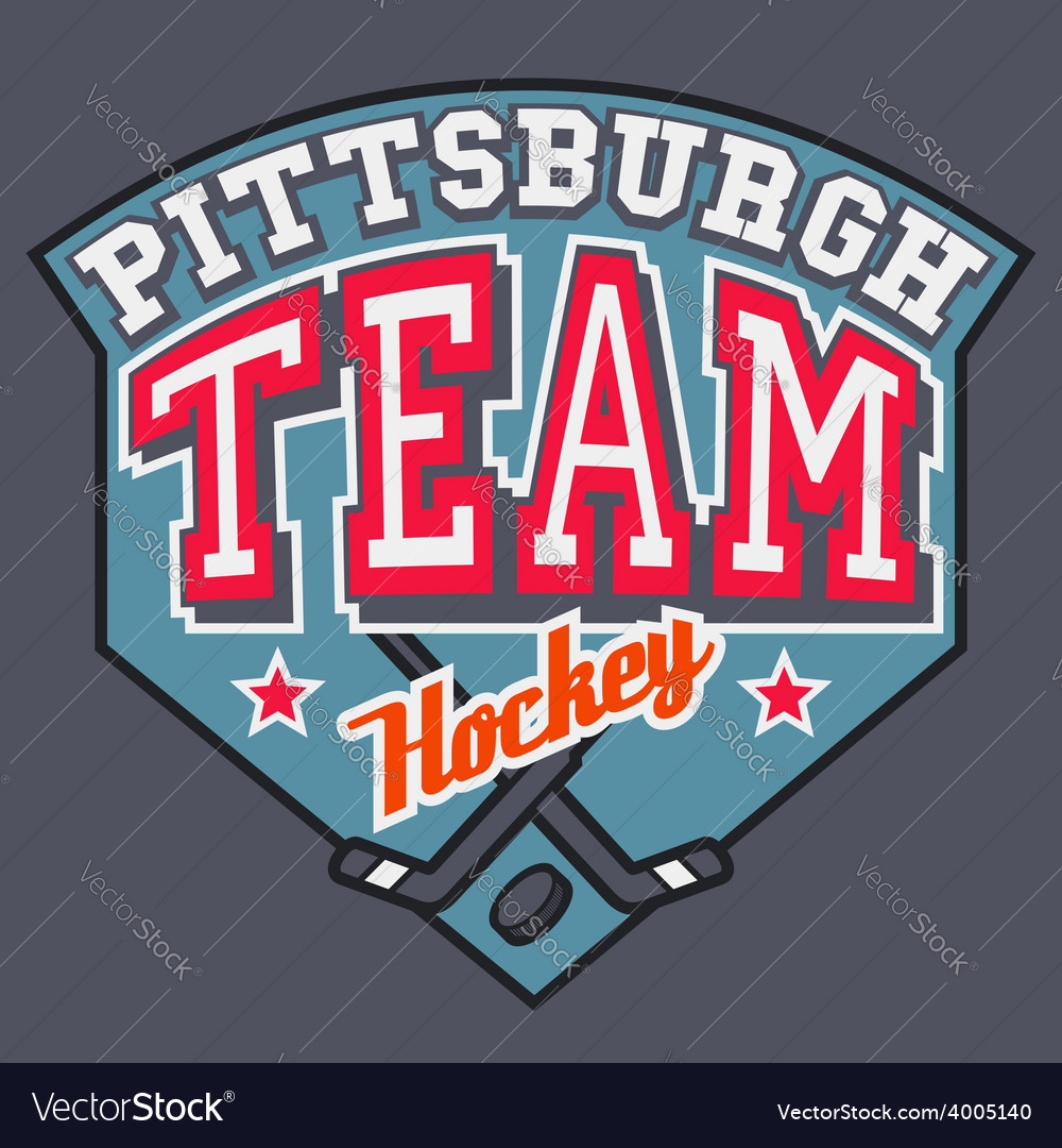 Pittsburgh hockey team vector | Price: 1 Credit (USD $1)