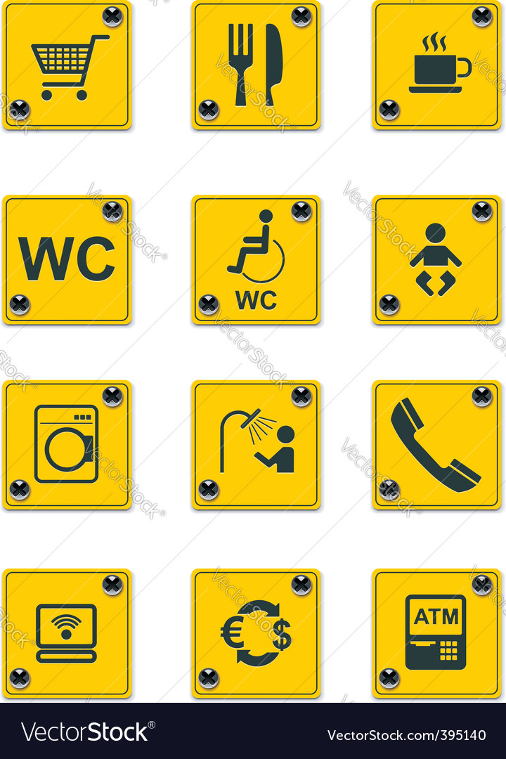 Roadside services signs pt 2 vector | Price: 1 Credit (USD $1)