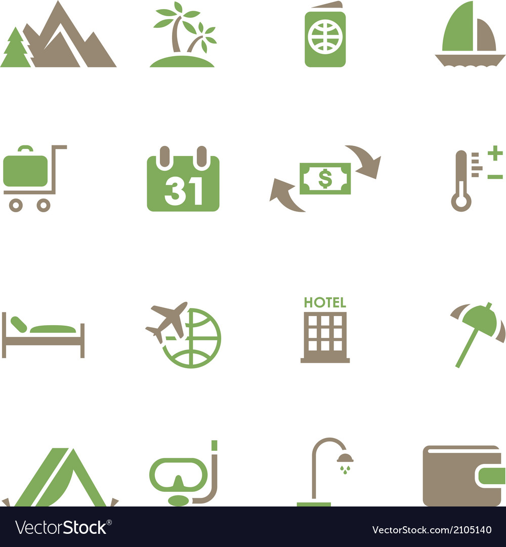 Set icons for travel and tourism vector | Price: 1 Credit (USD $1)
