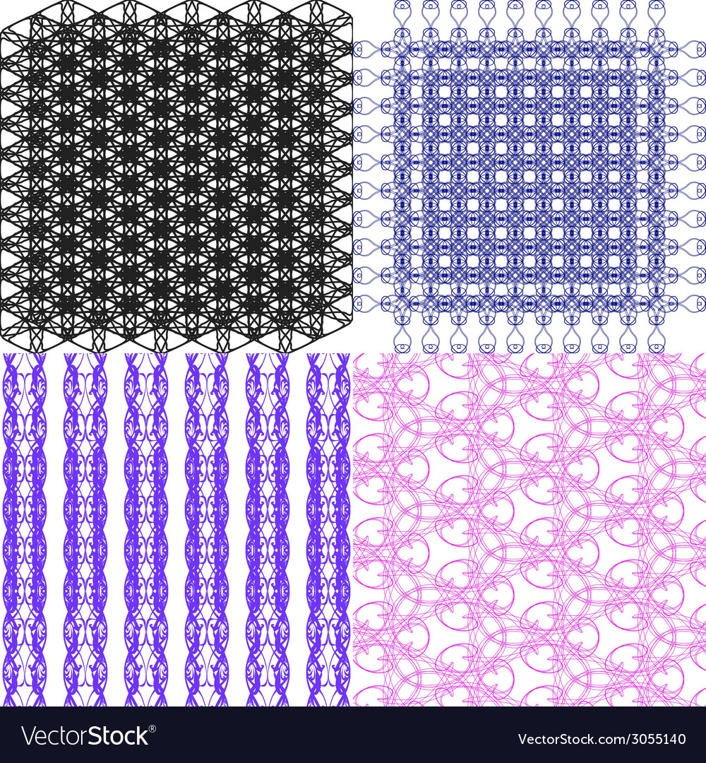Set of geometric pattern in op art design art vector | Price: 1 Credit (USD $1)
