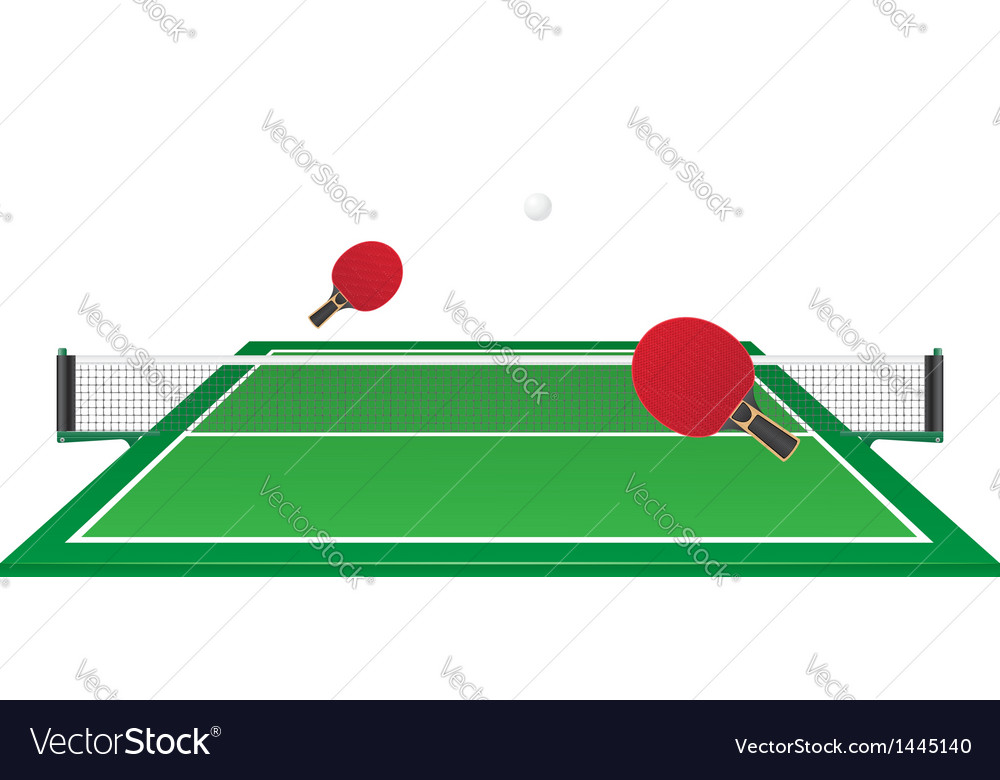Table tennis ping pong vector | Price: 1 Credit (USD $1)