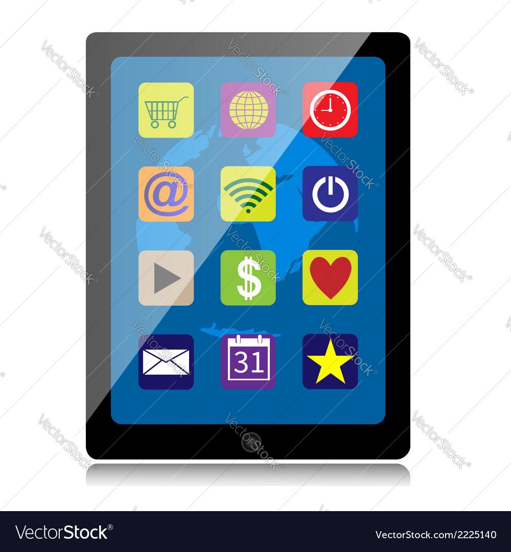 Tablet computer vector | Price: 1 Credit (USD $1)