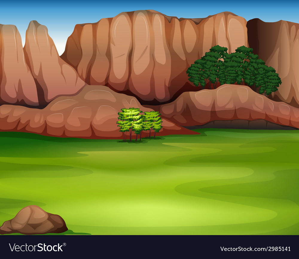 A beautiful landscape vector | Price: 1 Credit (USD $1)