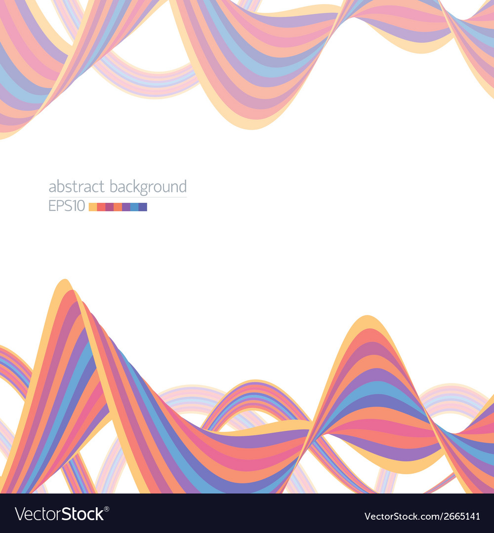 Abstract background with striped ribbons vector | Price: 1 Credit (USD $1)