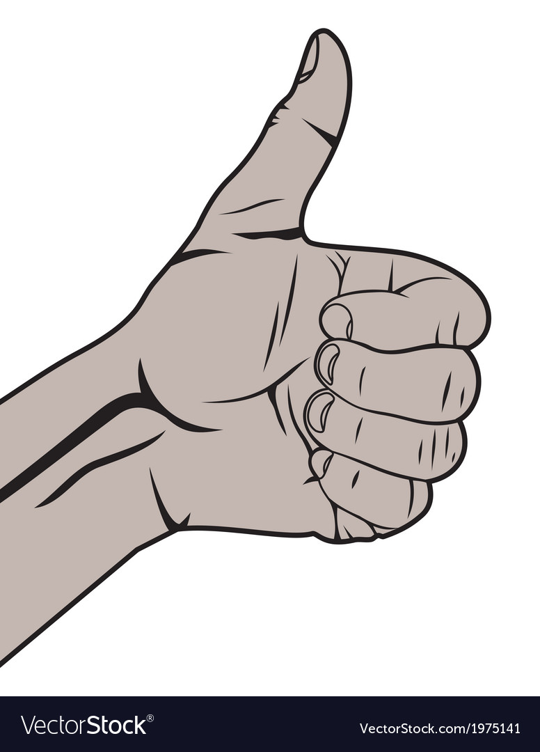 Autostoperski prst crni vector   Price: 1 Credit (USD $1)