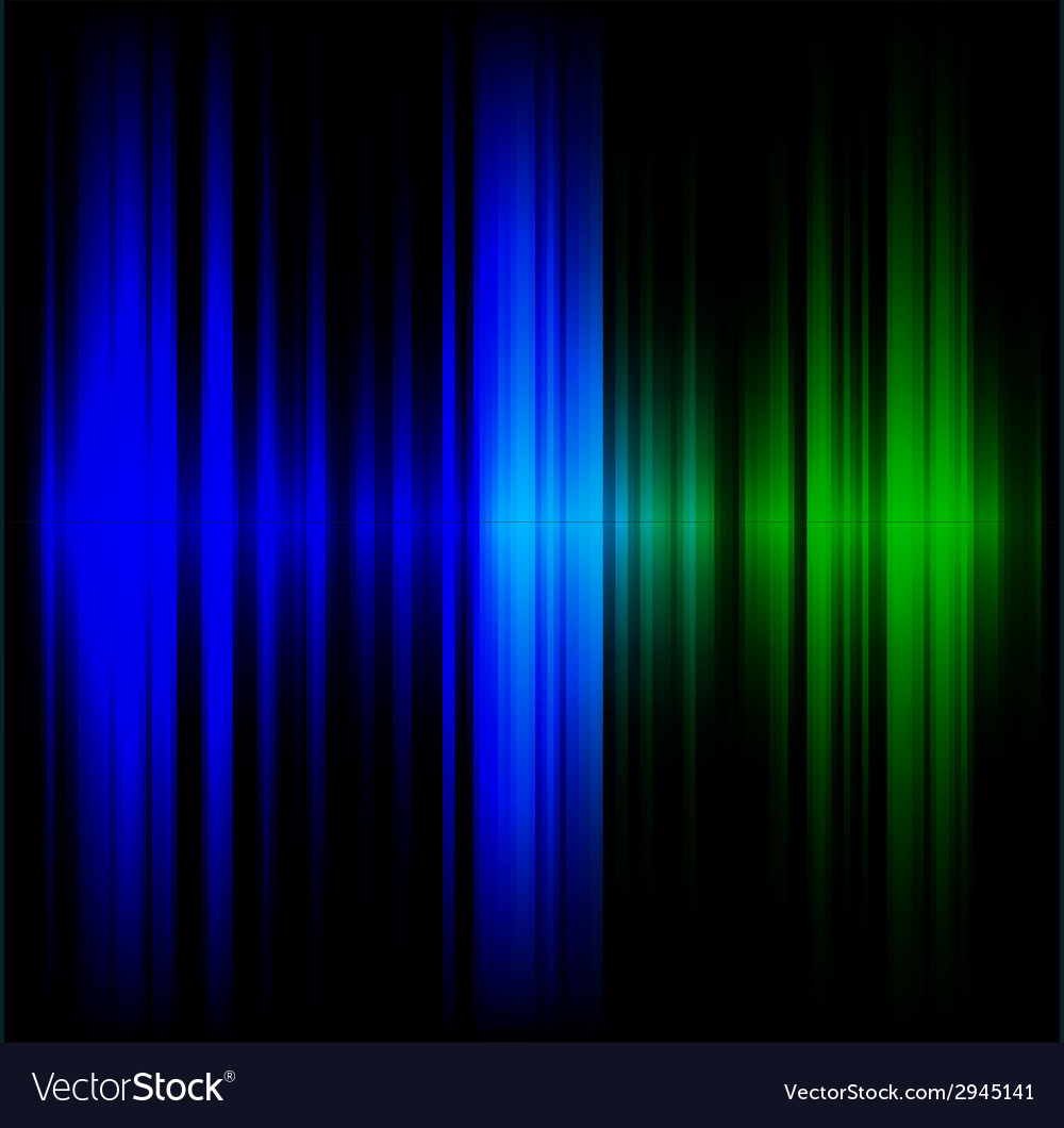 Blue and green abstract wave dark background vector | Price: 1 Credit (USD $1)