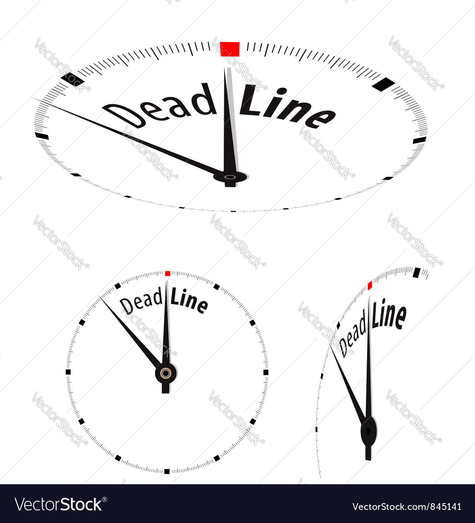 Deadline clock vector | Price: 1 Credit (USD $1)