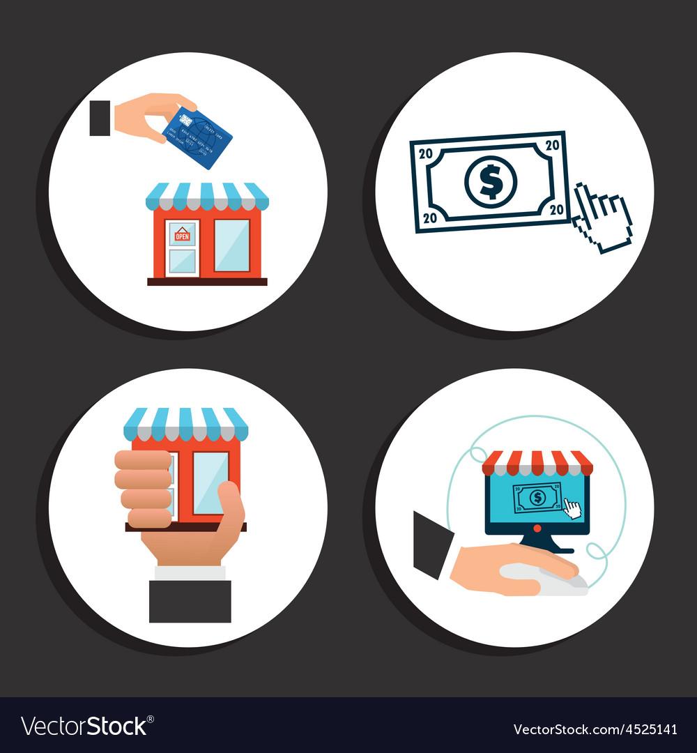 Ecommerce icon vector | Price: 1 Credit (USD $1)