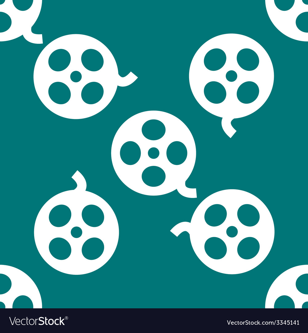 Film web icon flat design seamless pattern vector | Price: 1 Credit (USD $1)