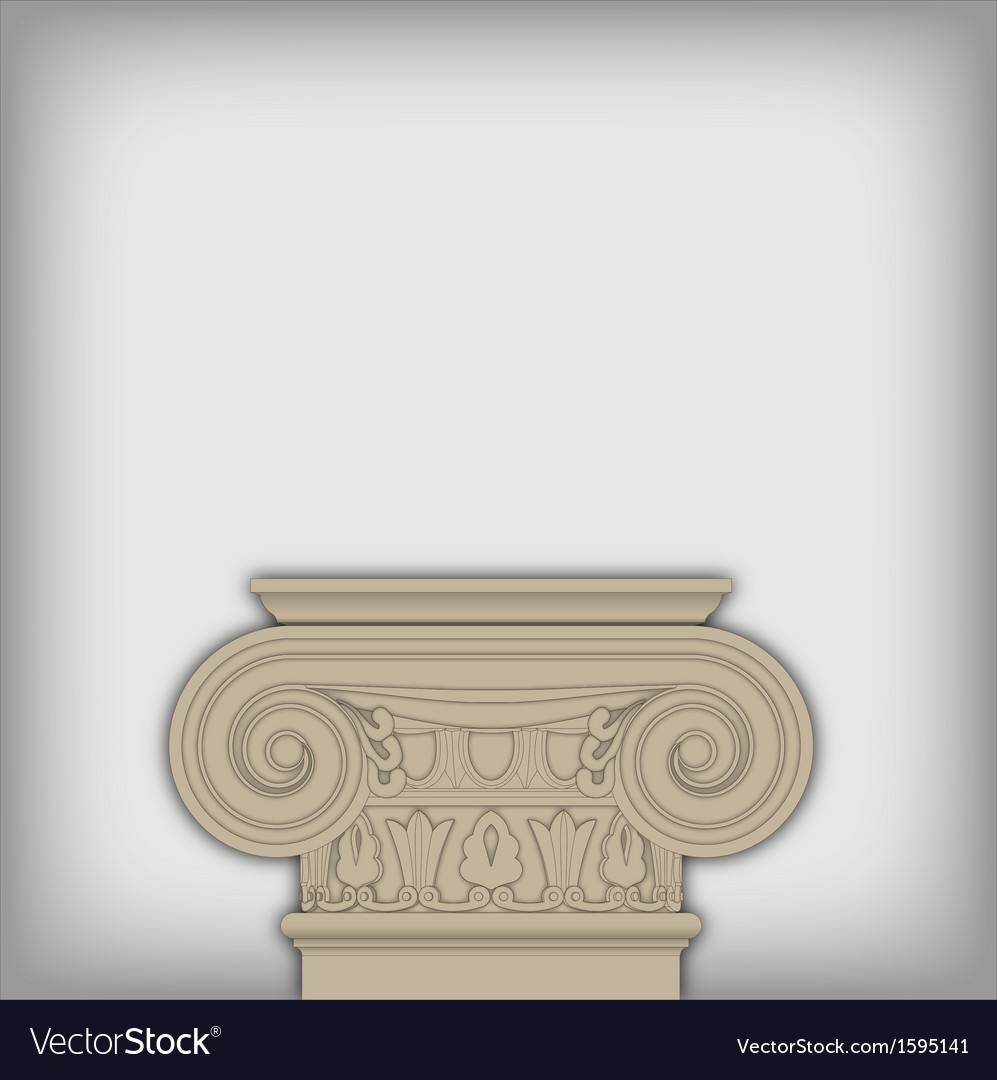Postament from ionic capital vector | Price: 1 Credit (USD $1)