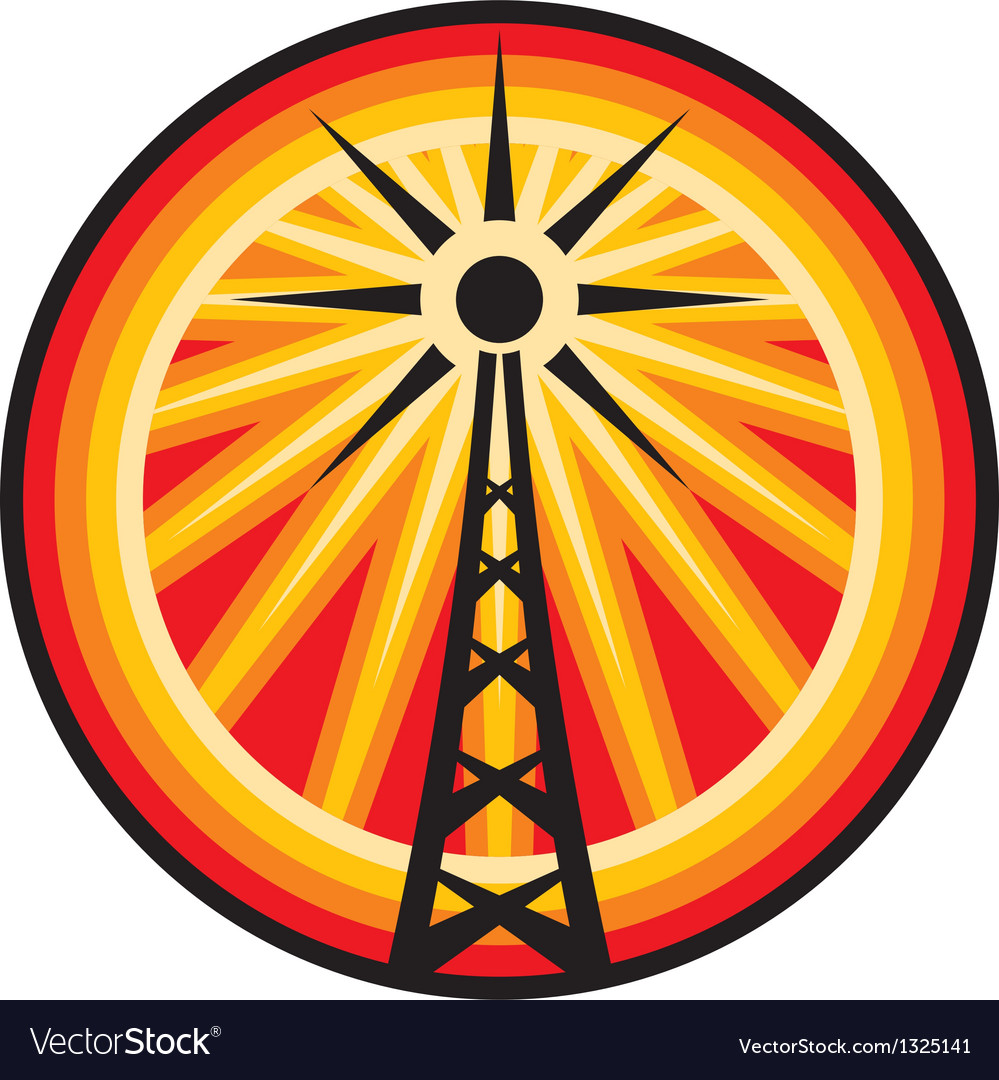 Radio antenna symbol vector | Price: 1 Credit (USD $1)