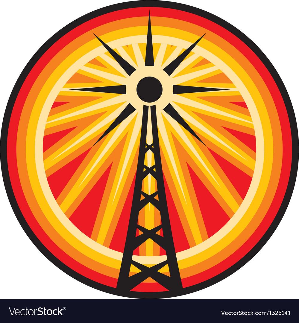Radio antenna symbol vector | Price: 1 Credit (USD $1)