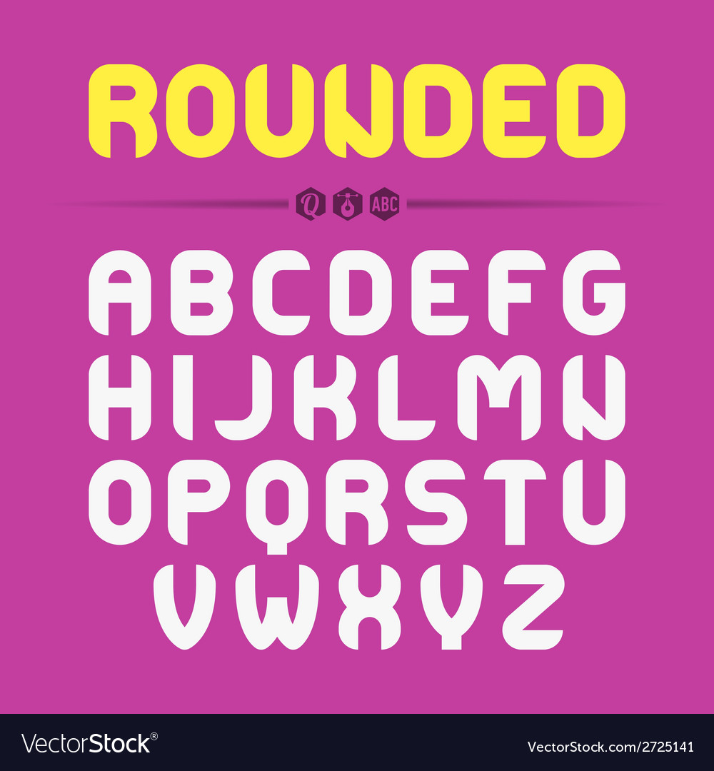 Rounded font design vector | Price: 1 Credit (USD $1)