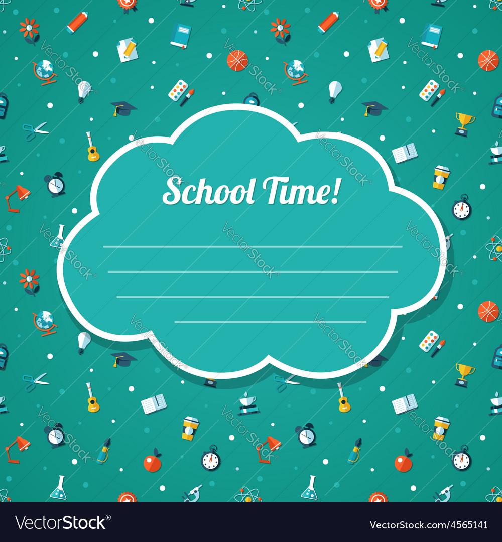 School flat design flyer template vector | Price: 1 Credit (USD $1)