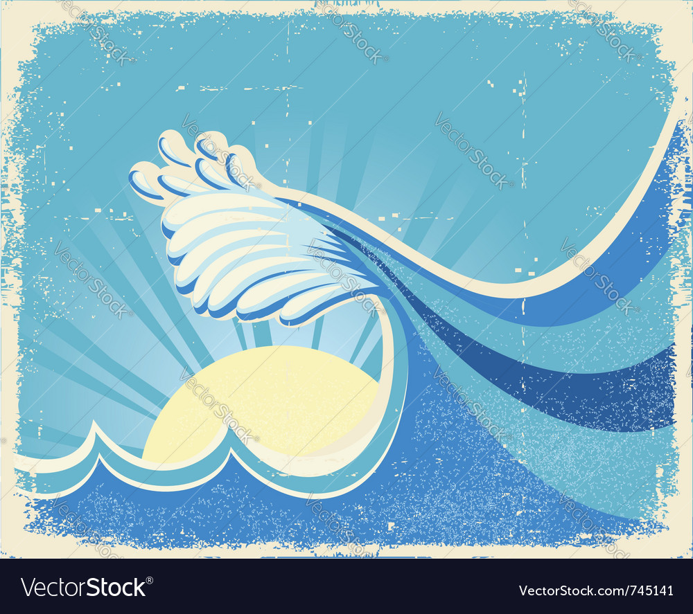 Sea landscape with sun vector   Price: 1 Credit (USD $1)