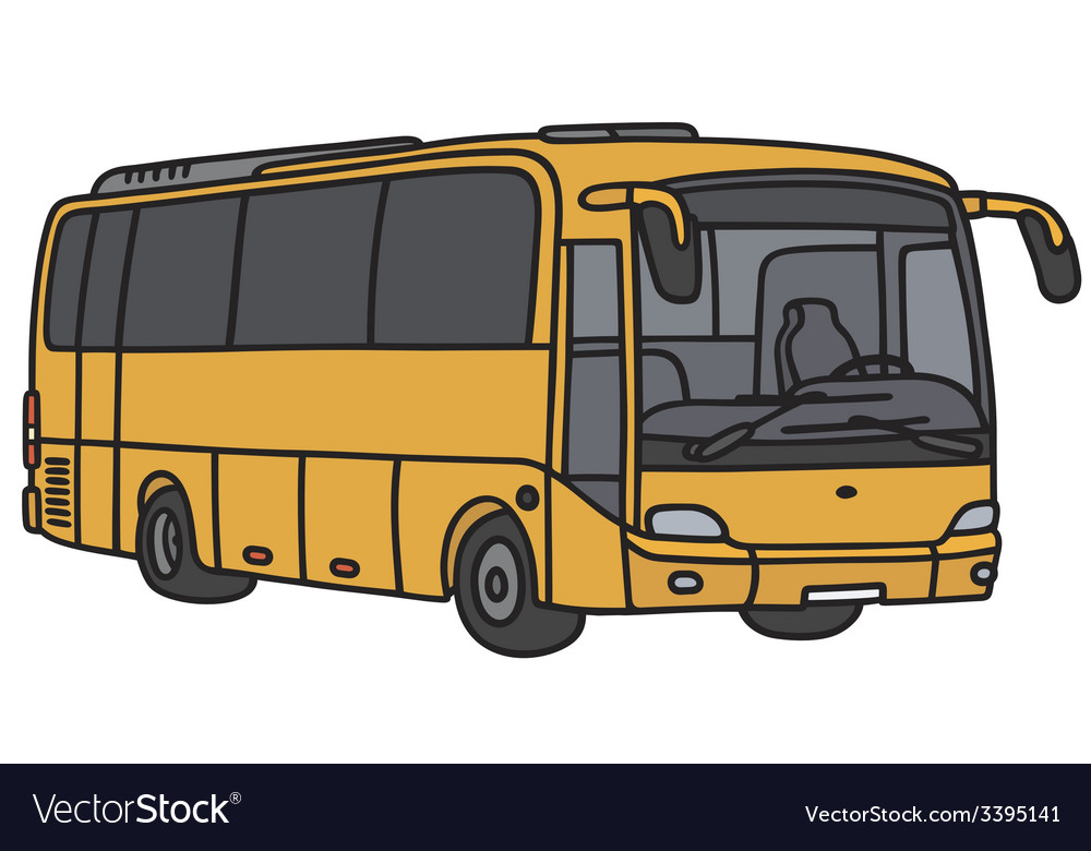 Yellow bus vector | Price: 1 Credit (USD $1)