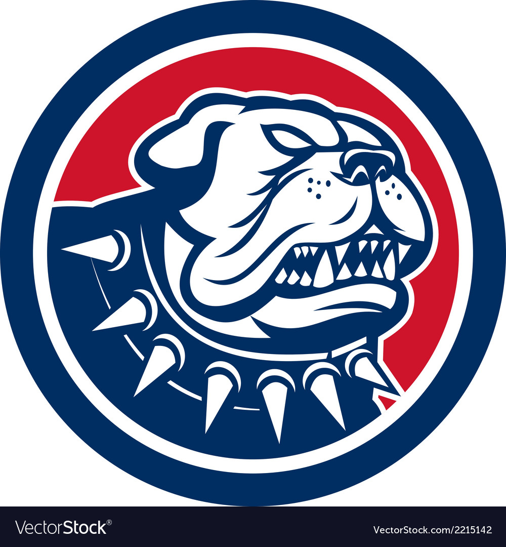 Angry bulldog dog mongrel head mascot vector | Price: 1 Credit (USD $1)