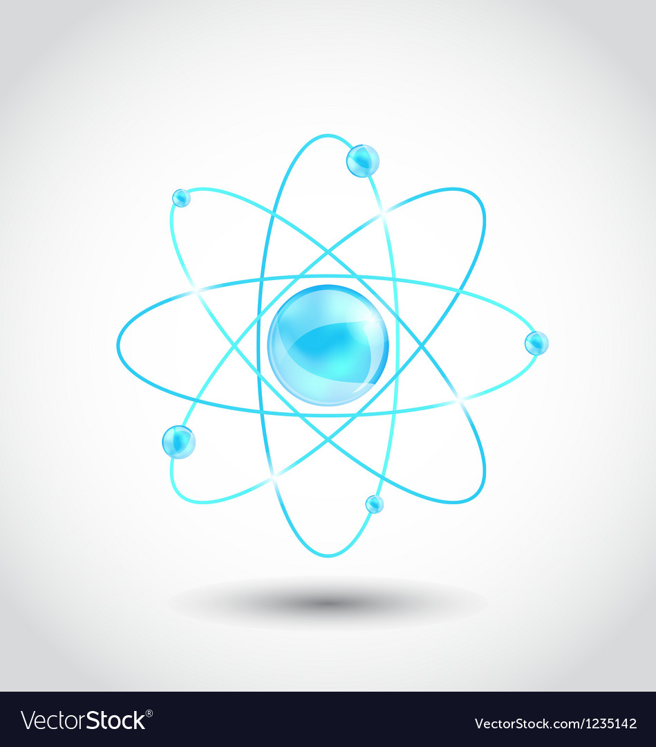 Atom symbol isolated on white background vector | Price: 1 Credit (USD $1)