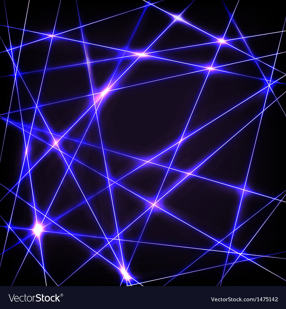 Chaotic crossing neon lines vector | Price: 1 Credit (USD $1)
